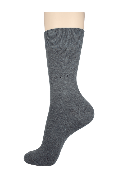 Men's Pattern Dress Socks CK Grey
