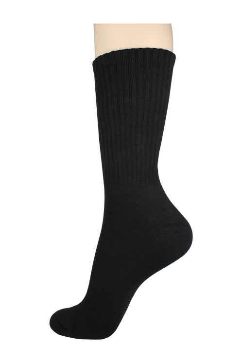 Men's Cushion Long Socks Black