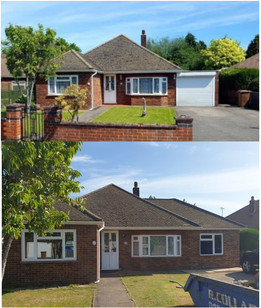 Bungalow extension before & after