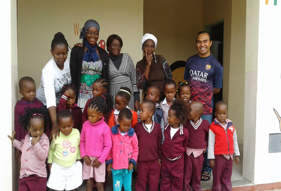Photo bersama para guru dan anak-anak TKK di paroki