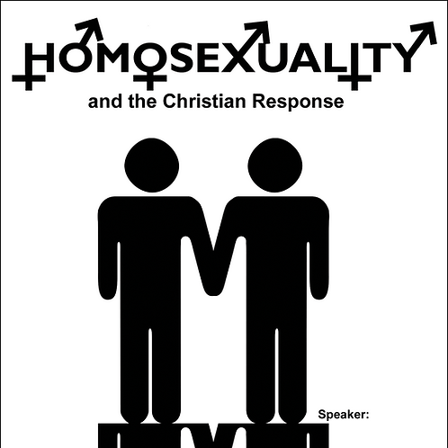 DVD - Homosexuality & Christian Response _ SUGGESTED DONATION