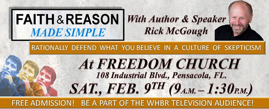 Faith & Reason Made Simple Seminar Banne