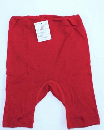 Børne Bermuda shorts  70% økologisk uld 30% silke cherryrød