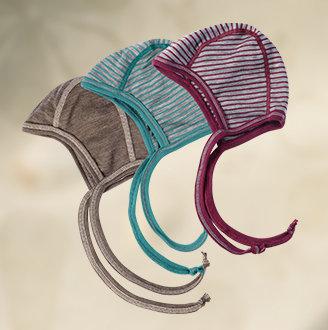 Baby hue 70% økologisk uld 30% silke