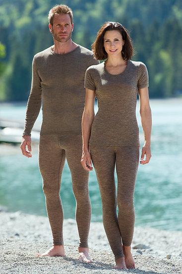 T-shirt korte ærmer 70% økologisk uld 30% silke