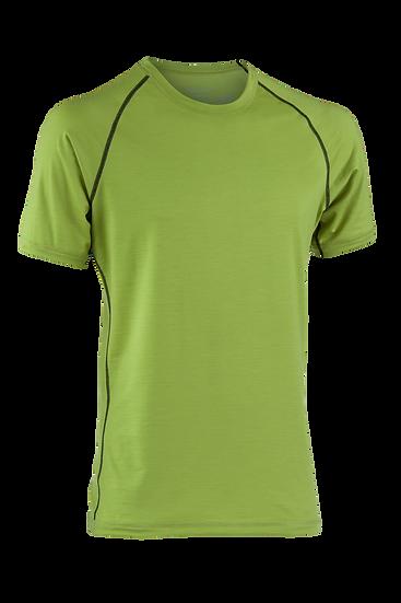T-Shirt  kort ærme // regular fit 70% merinould 28% silke 2% elastan