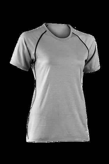 T-shirt  kort ærme  regular fit 70% merino uld økologisk 28% silke 2% elasthan