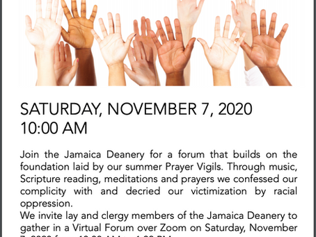 Racial Justice and Reconciliation Forum - Saturday Nov. 7, 2020