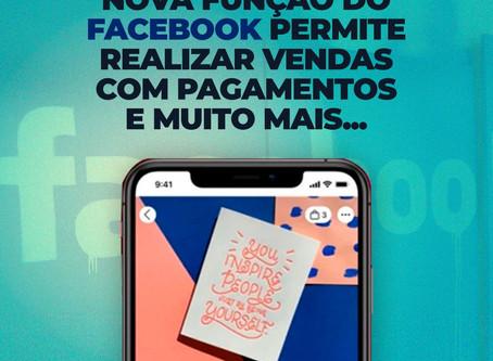 Nova função permite pagamentos via Facebook e Whatsapp
