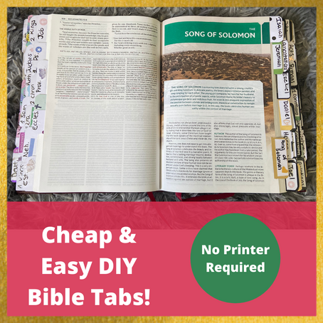 DIY Bible Tabs From Your Planner
