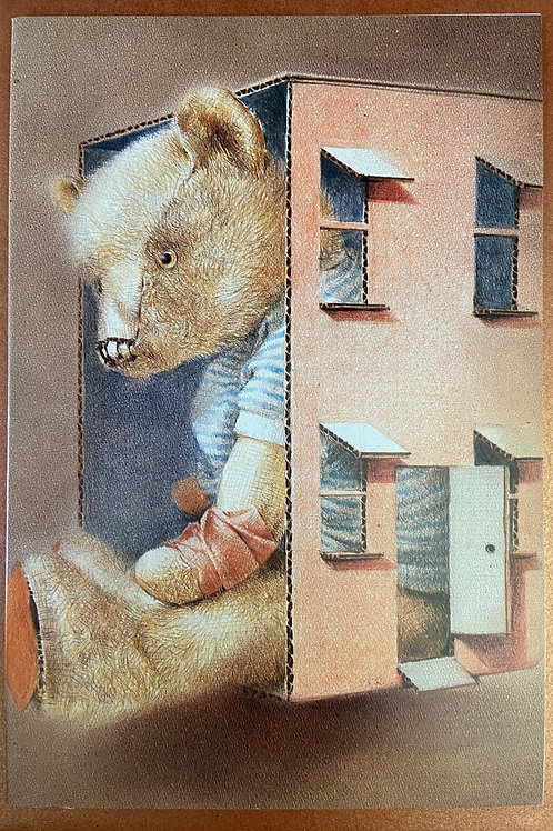 Teddy bear blank cards