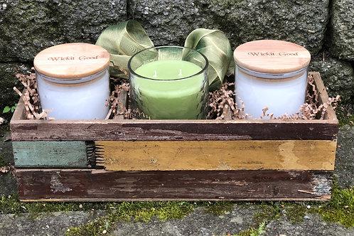 Wooden Garden Planter Gift Basket