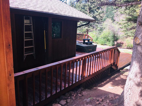 Cuchara, CO deck restoration finally finished