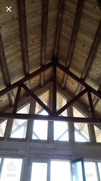 Lacy home ceiling and beams