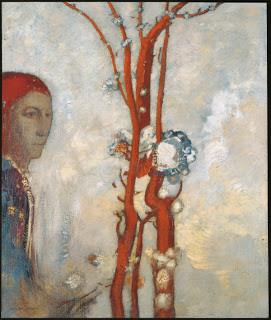 Le buisson rouge d'Odilon Redon