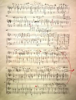 """Manuscrit autographe de la partition du """"Labyrinthe"""" par Karol Beffa"""