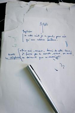 Manuscrit autographie pour L'ORDALIE