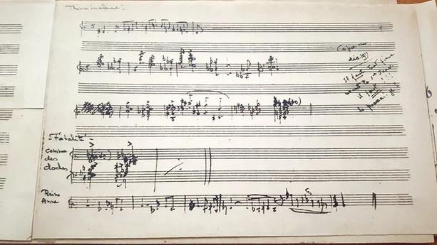 Manuscrit de LA PRINCESSE MALEINE de Lili Boulanger