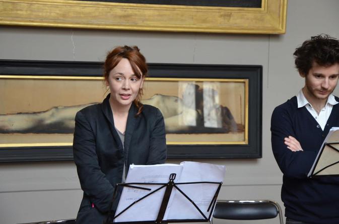 Hélène Liber-Pianelli (Ophélie) et Étienne Durot (Hamlet)