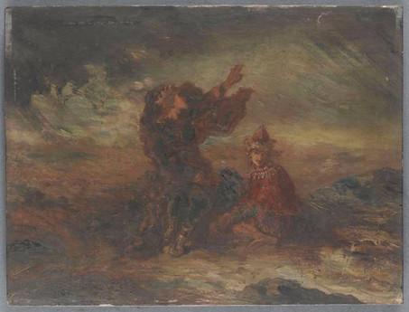 LEAR ET LE FOU de Gustave Moreau