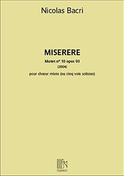 Partition du Motet n°10 de Nicolas Bacri d'après un poème d'Olivier Dhénin