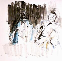 Sophian et Mahaut Lazarus par Blanche Urwald