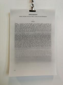 Tapuscrit de CORDELIA : cinq versions corrigées superposées sur papier calque