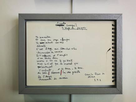 Manuscrit du poème LE SONGE DE JACQUES