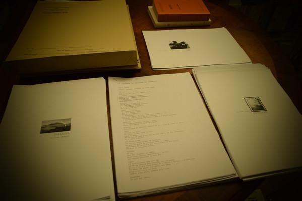 Scripts d'Olivier Dhénin : UNALASKA, TRISTAN, FROIDURE, LES GENS DU DOMAINE SANS NOM