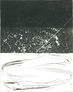Gravure de Maya Boisgallays pour COMME VENANT DE LOIN