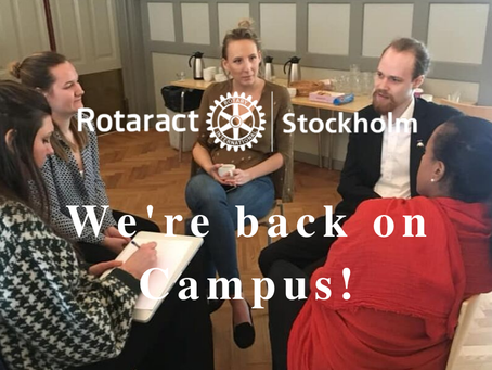 Rotaract Stockholm is back on Campus!