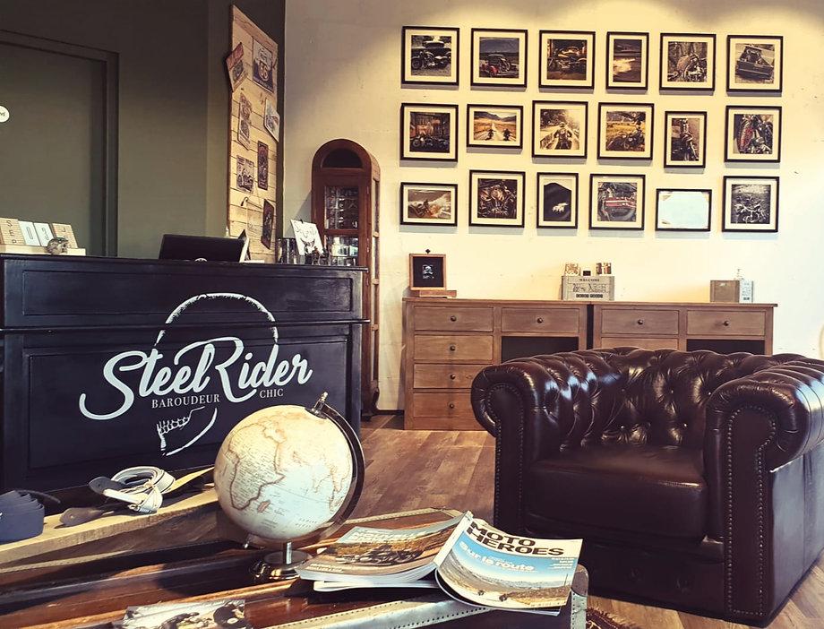 Photo de l'accueil de la boutique Steel Rider