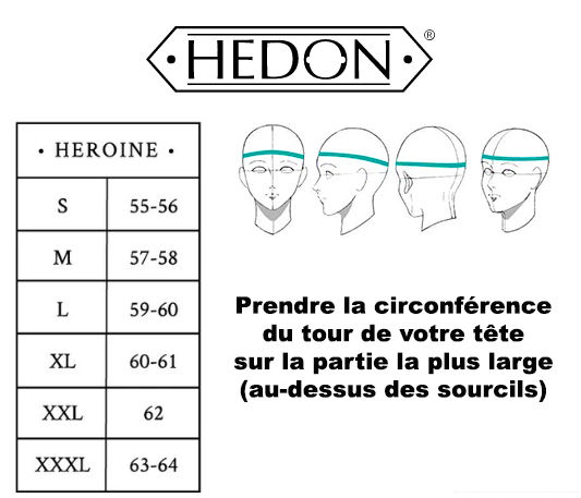 Guide des tailles casque hedon gamme her