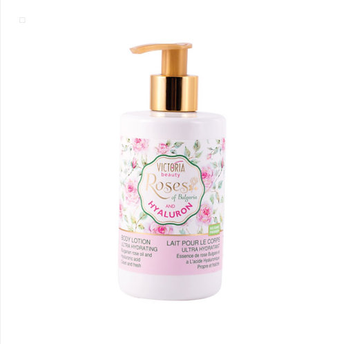 Body lotion with Bulgarian rose oil and hyaluronic acid