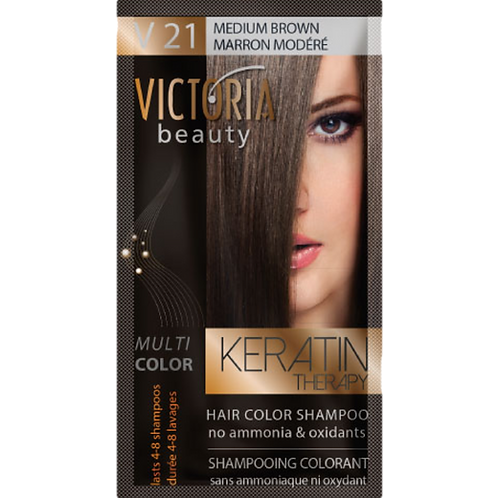 MEDIUM BROWN - V21 Hair color shampoo