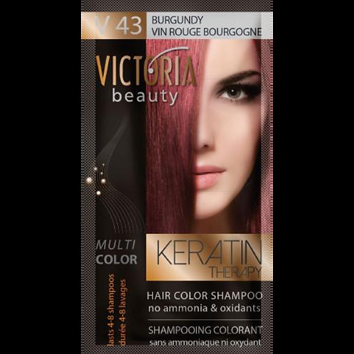 BURGUNDY - V43 Hair color shampoo