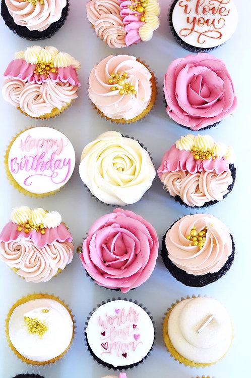Birthday Cupcakes - Pink