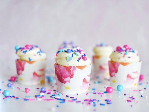 Vanilla Cupcakes Baking Kit - Floral Watercolor