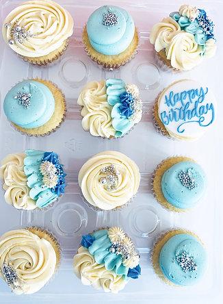 Birthday Cupcakes - Blue