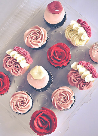Valentine's Day Themed Cupcakes