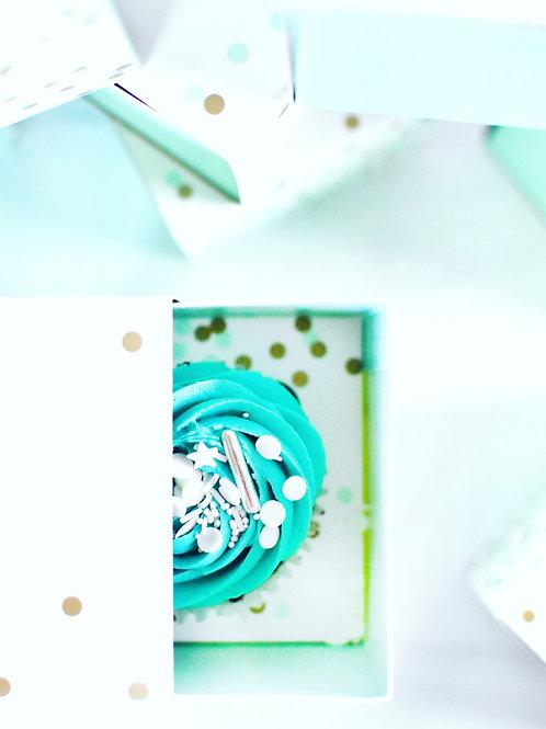 Cupcakes w/ Gift Boxes - Tiffany Polka Dots
