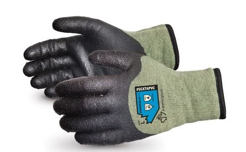 Superior Glove Emerald CX Kevlar®/Steel Winter w/ PVC Palm Glove; SCXTAPVC