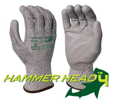 Armor Guys Basetek® Hammerhead 4 Grey Polyurethane Palm Coating; 02-028