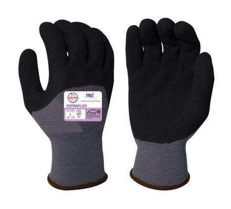 Armor Guys Extraflex Black HCT MicroFoam Nitrile 3/4 Palm Coating; 04-002