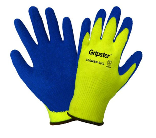 Global Glove Gripster - High-Visibility Etched Rubber Dipped Gloves; 300NBE