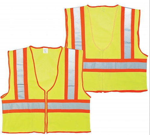 Seattle Glove Class 2 Yellow Mesh Safety Vest