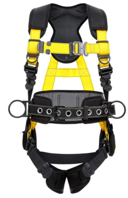 Guardian Series 5 Harness w/ Waist Pad; Quick-Connect Buckles