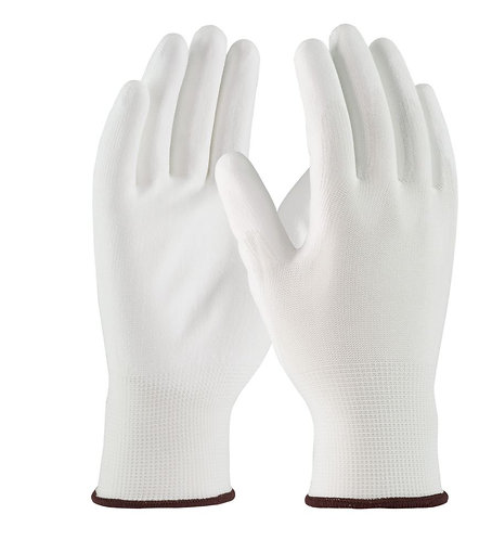 PIP Seamless Knit Polyester Glove w/ Polyurethane Coated Flat Grip; 33-115