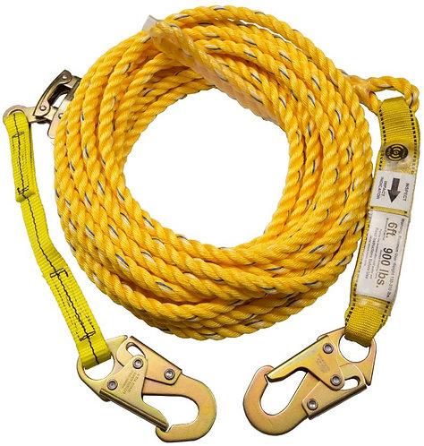 Guardian Poly Steel Rope Vertical Lifeline w/ Shock Absorber