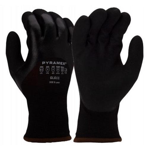 Pyramex Nitrile Dipped, Insulated 13 Gauge Glove; GL6111